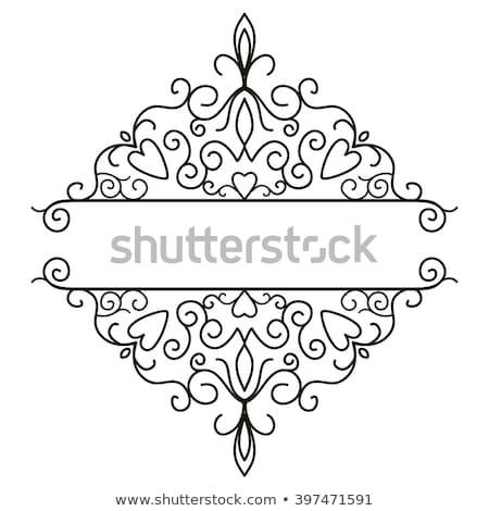 Scroll Floral Filigree Pattern Heraldry Design Stock photo © Krisdog