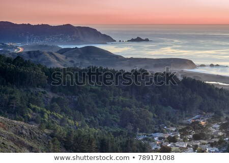 Milagra Ridge Coastal Dusk Views. Stock photo © yhelfman
