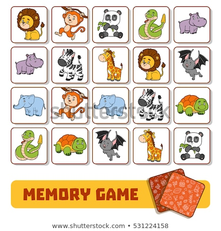 Memory game children Insects Stock photo © Olena