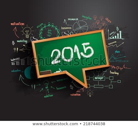 New Solution - Doodle Illustration on Green Chalkboard. Stock photo © tashatuvango