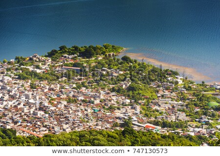 Aerial View Of San Pedro La Laguna Stock photo © THP