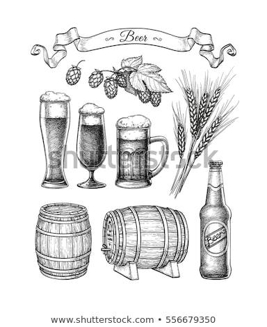 Mout witte geïsoleerd eten reclame alcohol Stockfoto © ConceptCafe
