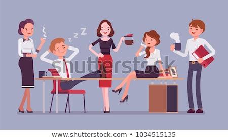 Office workers having tea break stock photo © IS2