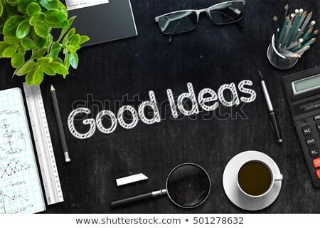 Bom idéias preto quadro-negro 3D Foto stock © tashatuvango