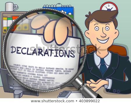 Declarations through Magnifier. Doodle Style. Stock photo © tashatuvango