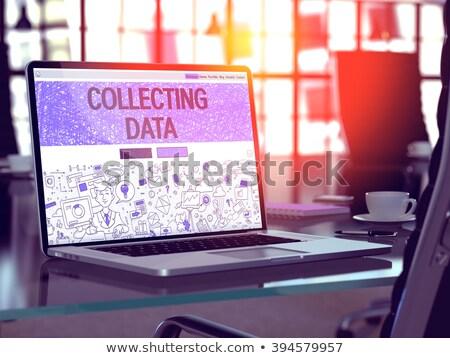 3D · estatística · laptop · isolado · branco · imagem - foto stock © tashatuvango
