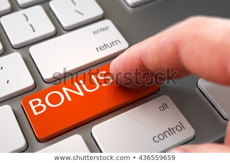 Kéz ujj sajtó bónusz kulcs modern Stock fotó © tashatuvango