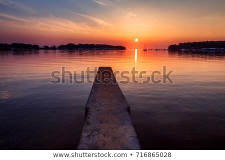 coucher · du · soleil · mer · Croatie · eau · été - photo stock © szabiphotography