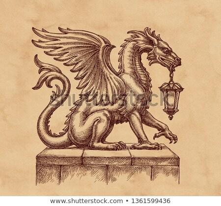 dragon in vintage style stock photo © krisdog