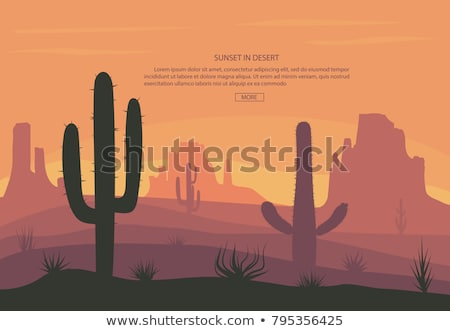 deserto · rocha · cena · natureza · ilustração · céu - foto stock © andrei_