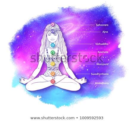 chakra · vector · aquarel · illustratie · abstract · lichaam - stockfoto © sonya_illustrations