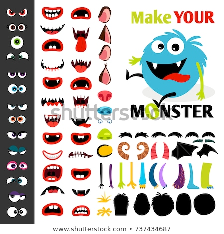 monster nose with vector illustration. Stock photo © Vicasso