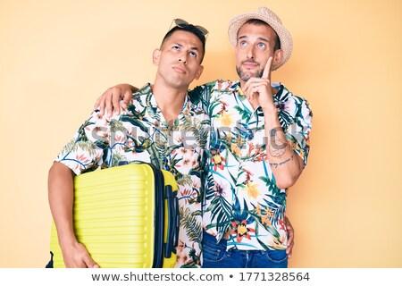 двое мужчин глядя серьезный человека дружбы мысли Сток-фото © IS2