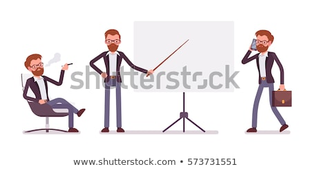 businessman relaxing in empty conference stock photo © is2