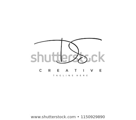 d letter signature logo Stock photo © meisuseno