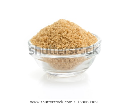 Glass bowl of brown sugar Stock photo © Alex9500