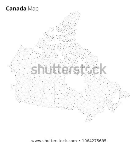 Canada map in blockchain technology network style. Stock photo © RAStudio