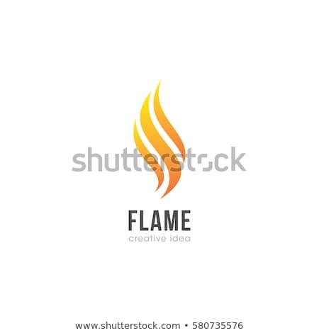 красный пламени современных факел ярко луч Сток-фото © ssuaphoto
