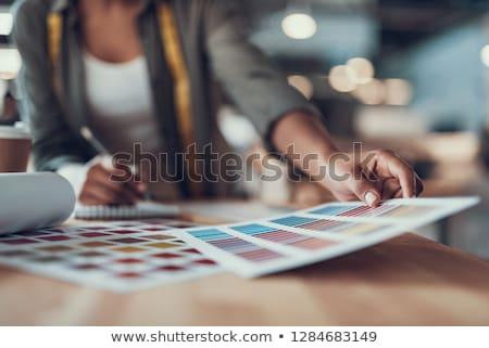 Café muestra tarjeta ilustración humo restaurante Foto stock © get4net