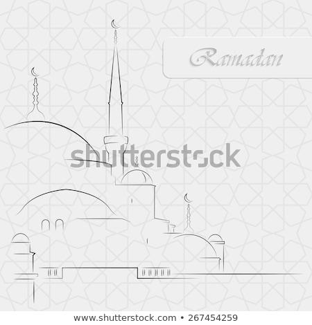 Cami model ramazan tebrik kartı Stok fotoğraf © popaukropa