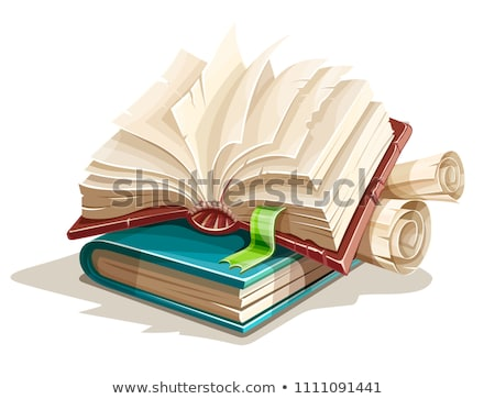 Stock photo: Magic books spreadsheet from fairy tale