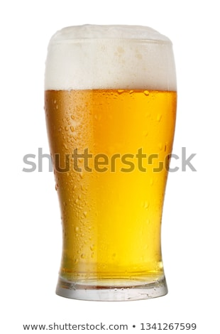 A Pint of Beer on White Background Stock photo © bluering