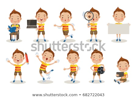 A Set of Children Researching Stock photo © bluering