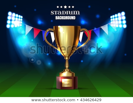shiny blue football tournament cup background Stock photo © SArts