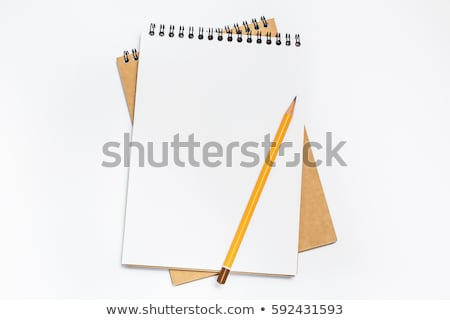 Notebook Isolated With Pencil White Background Stock photo © cammep
