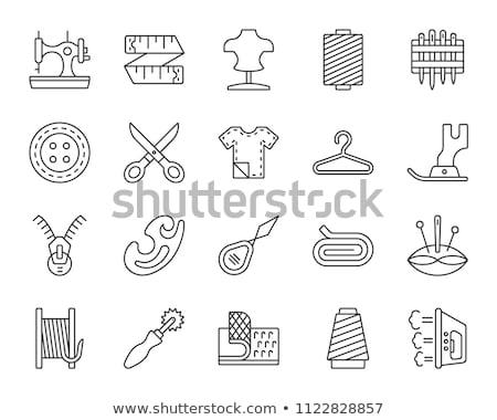 Vingerhoed houten textuur hout tabel Stockfoto © OleksandrO