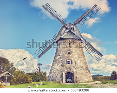 old windmill on a hill stock photo © ustofre9