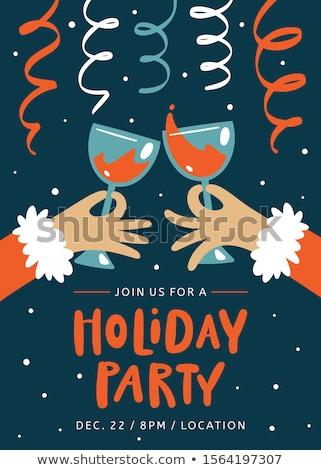barátok · szemüveg · bor · étterem · szabadidő · ünneplés - stock fotó © dolgachov