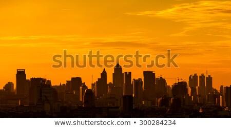 Bangkok stad silhouet zonsondergang zon zonsopgang Stockfoto © Ray_of_Light