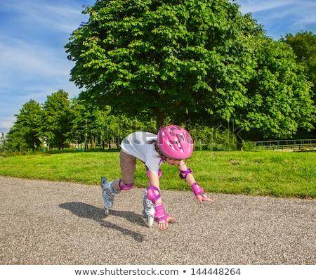 çocuk hasar paten örnek ağaç spor Stok fotoğraf © bluering