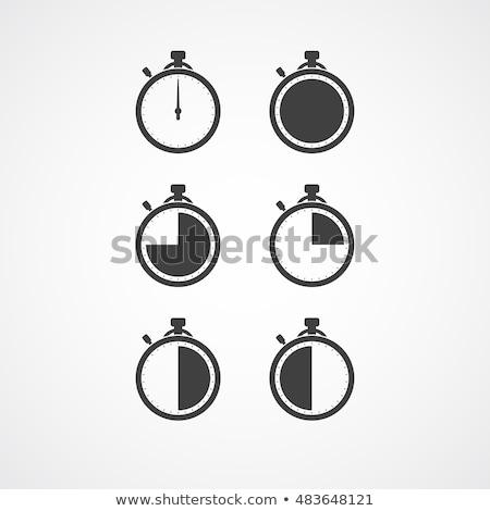 Yalıtılmış kronometre ikon kırk beş saniye Stok fotoğraf © Imaagio