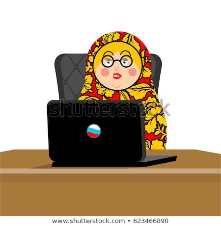 Rosyjski hacker laptop ip technologii Zdjęcia stock © popaukropa