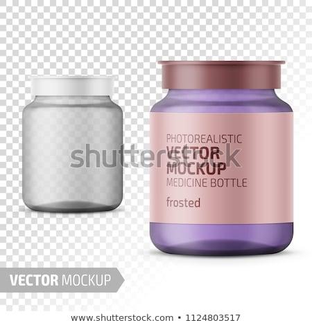 Pharmacy Labeled Glass Bottles Vector Illustration Stock photo © robuart