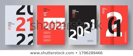 Promocji kalendarza zestaw pracownika nożyczki Zdjęcia stock © robuart