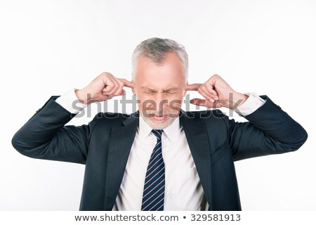 Business man with hands on his ears Stock photo © Imabase