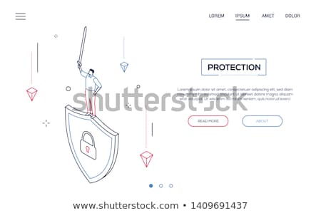 protection and safety   modern isometric vector web banner stock photo © decorwithme
