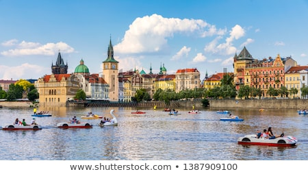 Touristic boat in Prague Stock photo © Givaga