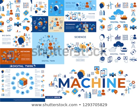 人工知能 · ロボット · ベクトル · 現代 · 技術 - ストックフォト © frimufilms