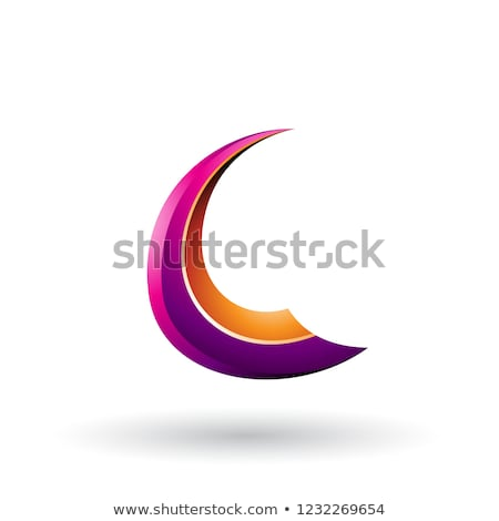 Magenta pomarańczowy dynamiczny pływające litera c wektora Zdjęcia stock © cidepix