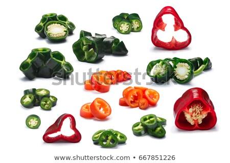 Green Serrano chile rings, paths Stock photo © maxsol7