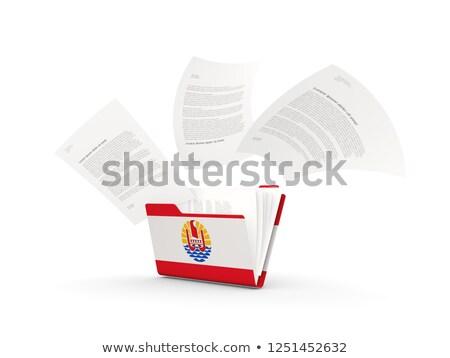 флаг · французский · флагшток · 3d · визуализации · изолированный · белый - Сток-фото © mikhailmishchenko