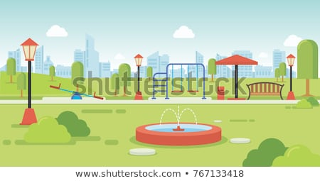 people in park cartoon isolated vector banner set stock photo © robuart