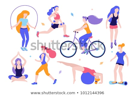 Running Woman Sport Jogging Vector Illustration Stock photo © robuart