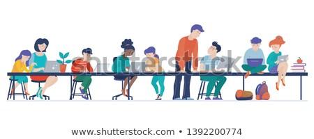 тип школьник работу набор столе различный Сток-фото © toyotoyo