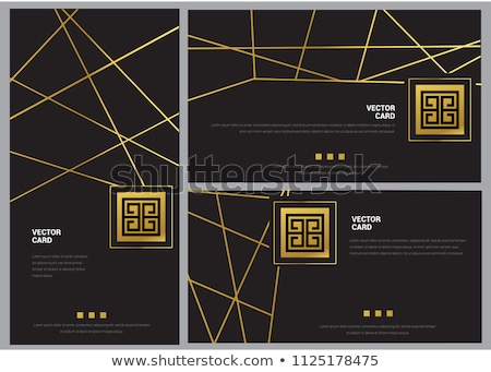 stylish invitation card with envelope stock photo © ruslanshramko