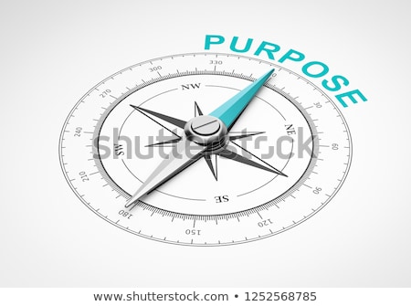 compass on white background mission concept stock photo © make